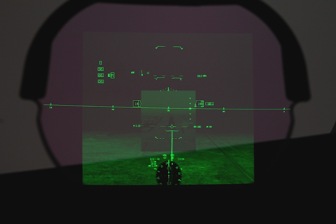Enhanced Flight Vision System Airplane Landing Technology