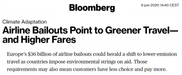 Bloomberg airline article post snippet